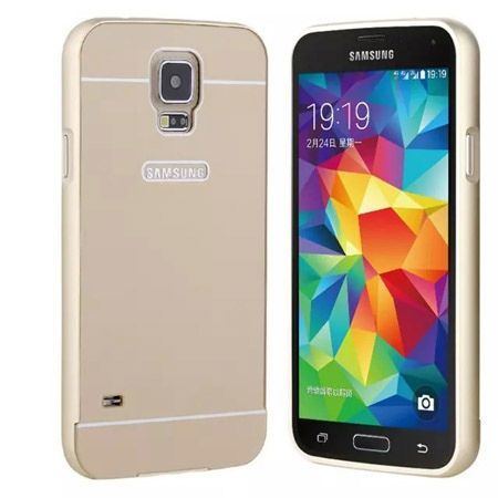 Galaxy S5 etui aluminium bumper case złoty