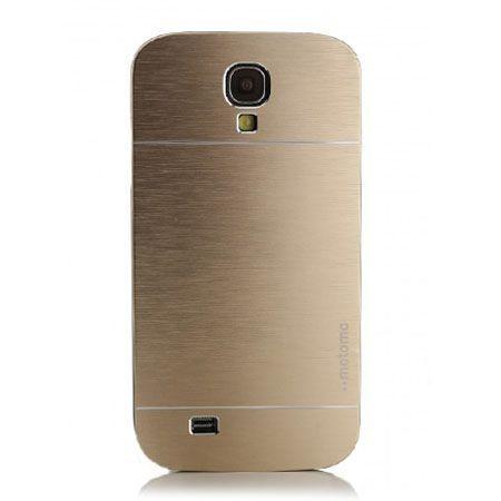 Galaxy S4 etui Motomo aluminium złoty