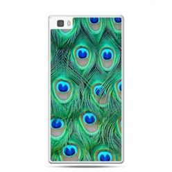 Huawei P8 Lite etui pawie pióra