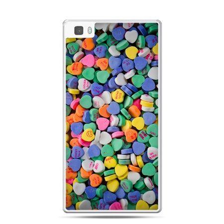 Huawei P8 Lite etui slodkie serduszka