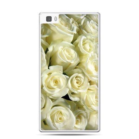 Huawei P8 Lite etui białe róże