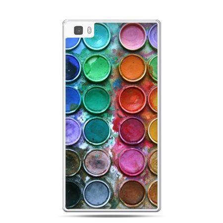 Huawei P8 Lite etui kolorowe farbki