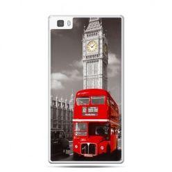 Huawei P8 Lite etui czerwony autobus londyn