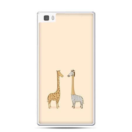 Huawei P8 Lite etui żyrafy