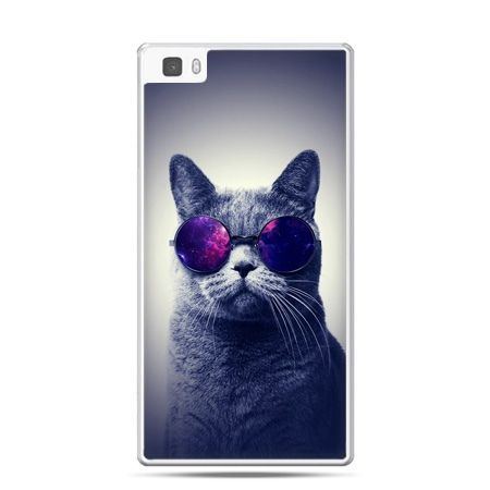 Huawei P8 Lite etui kot hipster w okularach