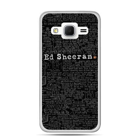 Galaxy Grand Prime etui ED Sheeran czarne poziome
