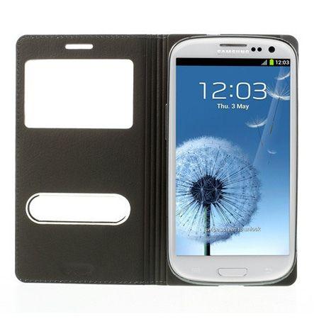 Galaxy S3 /  Neo /  LTE etui Flip S View czarny z klapką. PROMOCJA!!!