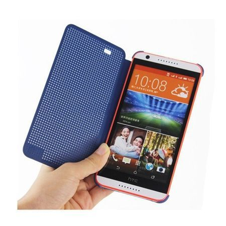 HTC Desire 820 etui Flip Dot View szary
