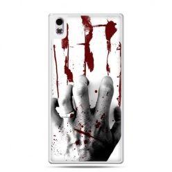 HTC Desire 816 etui zakrwawiona ręka