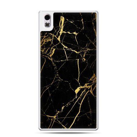 HTC Desire 816 etui złoty marmur
