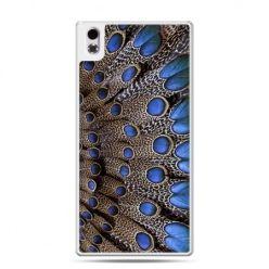 HTC Desire 816 etui niebieskie pióra