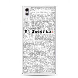HTC Desire 816 etui Ed Sheeran białe poziome