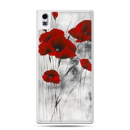 Etui na telefon HTC Desire 816 czerwone maki