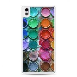 HTC Desire 816 etui kolorowe farbki