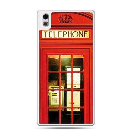 HTC Desire 816 etui czerwona budka telefoniczna