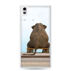 HTC Desire 816 etui zamyślony słoń