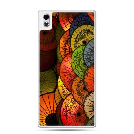HTC Desire 816 etui orientalne parasolki