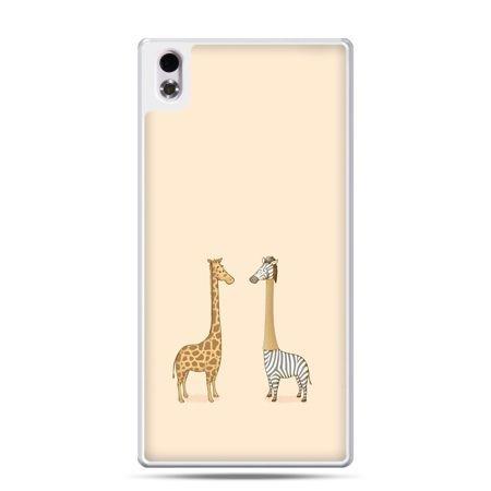 HTC Desire 816 etui żyrafy