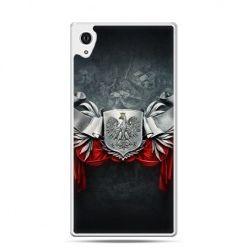 Etui na telefon Xperia Z4 patriotyczne - stalowe godło