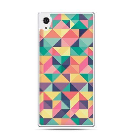 Etui Xperia Z4 kolorowe trójkąty