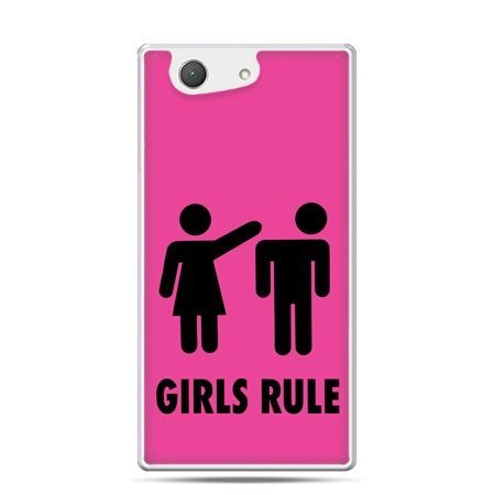 Xperia Z4 compact etui różowe Girls Rule