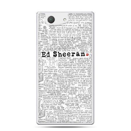 Xperia Z4 compact etui Ed Sheeran białe poziome