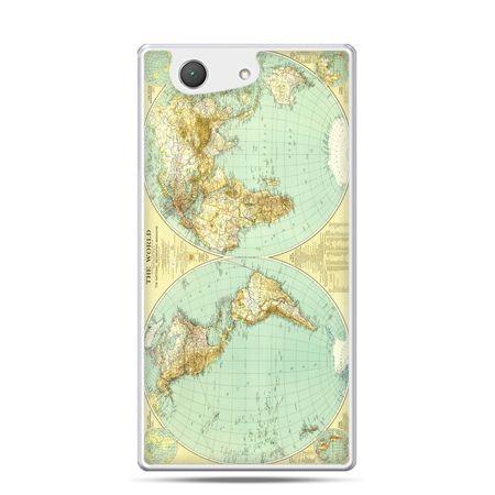 Xperia Z4 compact etui mapa świata