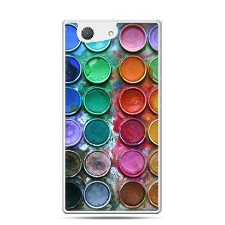 Xperia Z4 compact etui kolorowe farbki