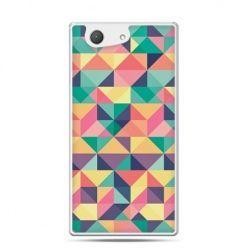 Xperia Z4 compact etui kolorowe trójkąty