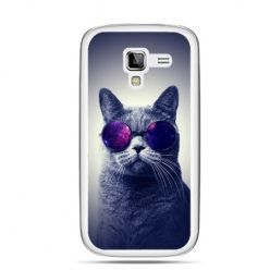 Galaxy Ace 2 etui kot hipster w okularach