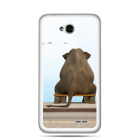 Etui na LG L70 zamyślony słoń