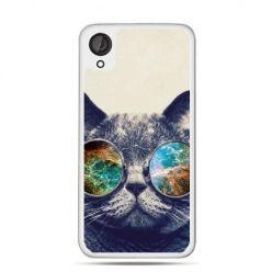 Etui dla Desire 820 kot w tęczowych okularach