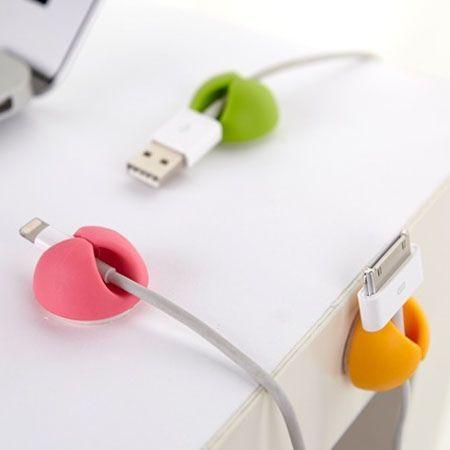 Cable drop Organizer do kabli samoprzylepny - 6 sztuk