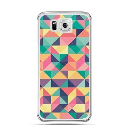 Galaxy Alpha etui kolorowe trójkąty