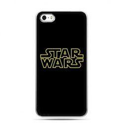 Etui na telefon Star Wars złoty napis.