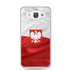 Etui na telefon Galaxy J1 patriotyczne - flaga Polski z godłem