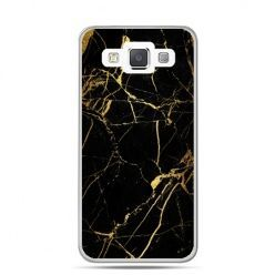 Galaxy J1 etui złoty marmur