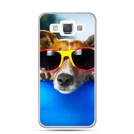 Galaxy J1 etui pies w kolorowych okularach