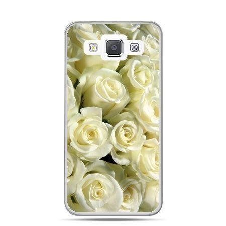 Galaxy J1 etui białe róże