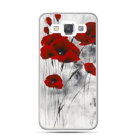 Etui na telefon Galaxy J1 czerwone maki