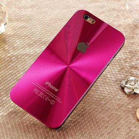 iPhone 6 różowe plecki aluminiowe efekt cd