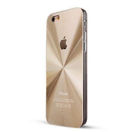 iPhone 6 / 6s złote plecki aluminiowe efekt cd