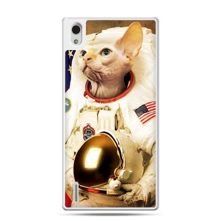 Huawei P7 etui kot astronauta