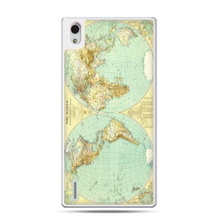 Huawei P7 etui mapa świata