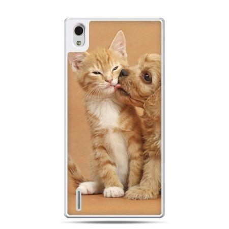 Huawei P7 etui jak pies i kot