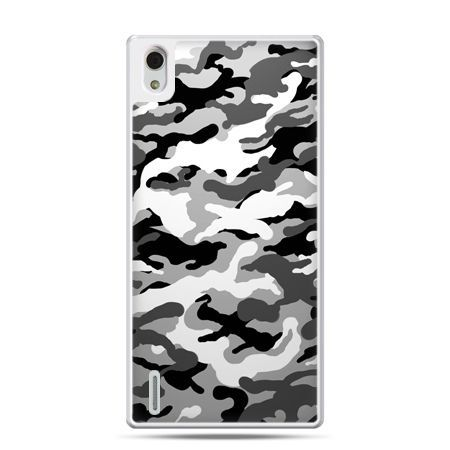 Huawei P7 etui moro czarno białe