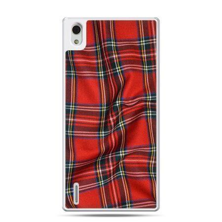 Huawei P7 etui szkocka kratka