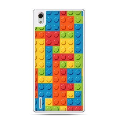 Huawei P7 etui kolorowe klocki