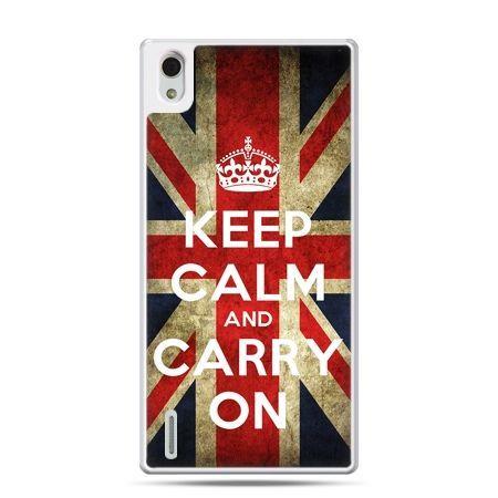Huawei P7 etui Keep calm and carry on