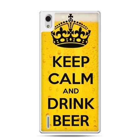 Huawei P7 etui Keep calm and drink beer